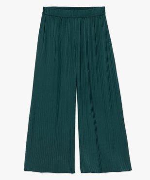 Pantalon femme plissé en matière satinée vue4 - GEMO(FEMME PAP) - GEMO