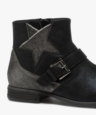 Boots fille zippés avec étoile pailletée sur le côté vue6 - Nikesneakers (ENFANT) - Nikesneakers