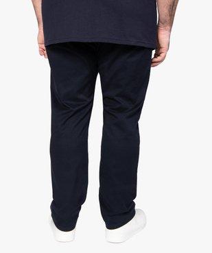 Pantalon homme en toile coupe Straight vue3 - GEMO (G TAILLE) - GEMO