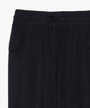 Pantalon fille fluide avec bas de jambes resserrés vue2 - GEMO (JUNIOR) - GEMO