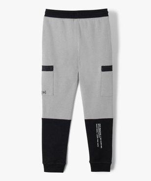 Pantalon de sport garçon en molleton à poches latérales vue6 - GEMO (ENFANT) - GEMO