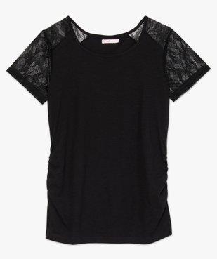 Tee-shirt de grossesse en coton bio avec manches en dentelle vue4 - GEMO C4G MATERN - GEMO