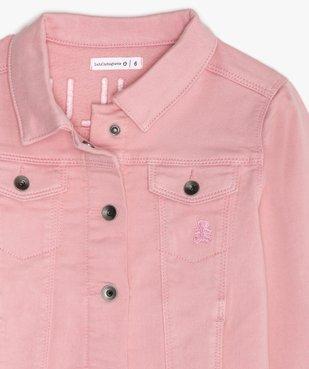 Veste fille en jean coloré - Lulu Castagnette vue3 - LULUCASTAGNETTE - GEMO