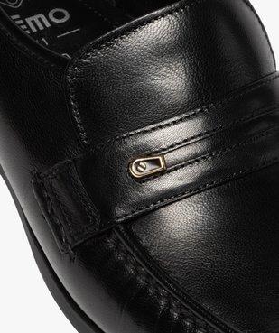 Mocassins homme unis en cuir coupe spéciale pied large vue6 - GEMO (CONFORT) - GEMO
