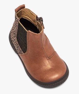 Boots bébé fille dessus cuir irisé façon Chelsea - Bopy vue5 - BOPY - GEMO