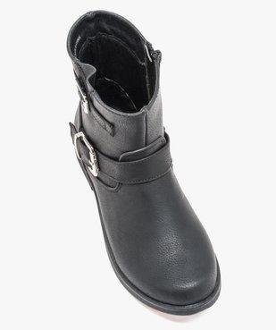 Boots fille unis avec boucles fantaisies fermeture zippée vue5 - GEMO (ENFANT) - GEMO