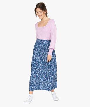 Jupe femme longue plissée à motifs vue5 - GEMO(FEMME PAP) - GEMO
