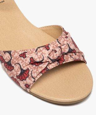 Sandales femme à petit talon compensé et dessus drapé vue6 - GEMO (CASUAL) - GEMO