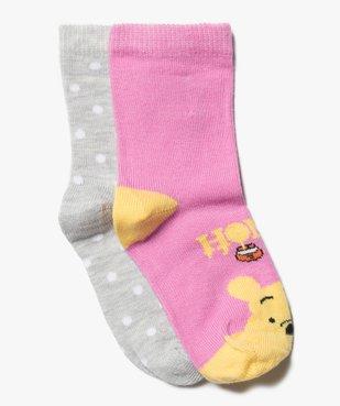 Chaussettes bébé fille avec motifs Winnie l'ourson (lot de 2)- Disney vue1 - DISNEY DTR - Nikesneakers