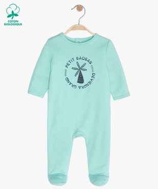 Pyjama bébé garçon avec motif baobab vue1 - GEMO C4G BEBE - GEMO