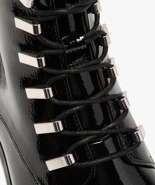 Boots femme unies et vernies à passants métalliques vue6 - GEMO (CASUAL) - GEMO
