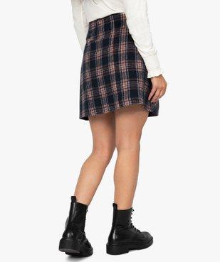 Jupe femme courte à carreaux style écossais vue3 - GEMO(FEMME PAP) - GEMO