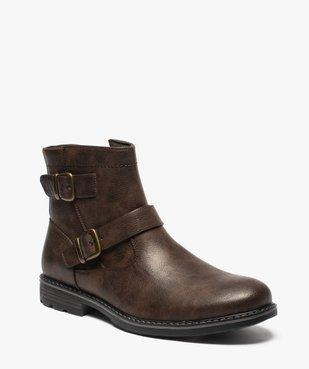 Boots homme à boucles décoratives et doublure chaude vue2 - GEMO (CASUAL) - GEMO
