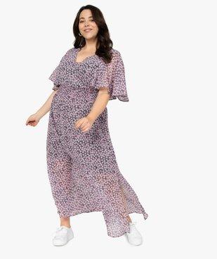 Robe femme imprimée longue avec taille smockée vue5 - GEMO (G TAILLE) - GEMO