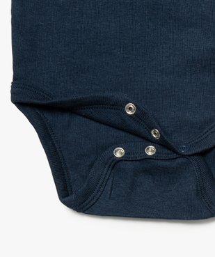 Body bébé mixte avec motifs baleines (lot de 3) vue2 - GEMO C4G BEBE - GEMO