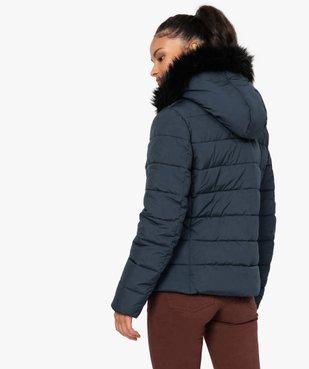 Doudoune femme à col montant et capuche douce vue3 - GEMO(FEMME PAP) - GEMO