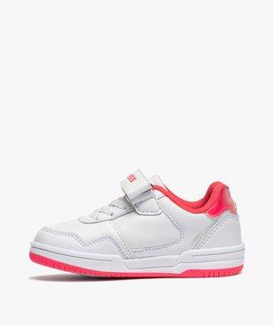 Tennis fille bicolores à lacets élastiques et scratch - Airness vue3 - AIRNESS - GEMO