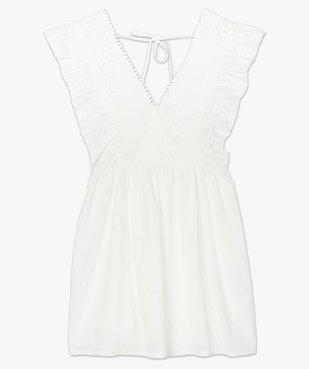 Robe de plage femme avec broderie anglaise vue4 - GEMO (PLAGE) - GEMO