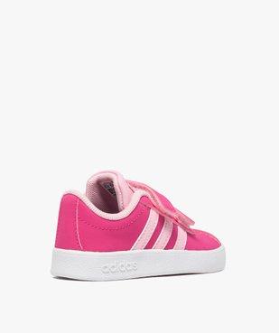 Basket bébé à scratchs bicolores doublée mesh - Adidas vue4 - ADIDAS - GEMO