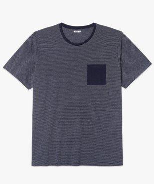 Tee-shirt homme à rayures et poche poitrine vue4 - GEMO (G TAILLE) - GEMO