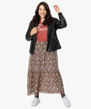 Blouson femme en esprit rock avec fermetures zippées vue5 - GEMO (G TAILLE) - GEMO