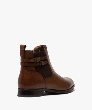 Boots femme unis à talon plat dessus cuir – Pierre Cardin vue4 - PIERRE CARDIN D - GEMO
