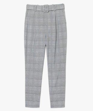 Pantalon femme à motif Prince de Galles taille haute vue4 - GEMO(FEMME PAP) - GEMO
