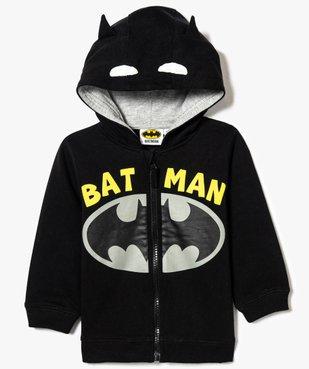 Sweat zippé imprimé Batman vue2 - BATMAN - GEMO