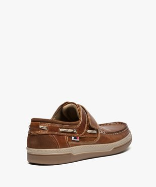 Chaussures bateau homme dessus cuir fermeture scratch vue4 - GEMO (CONFORT) - GEMO