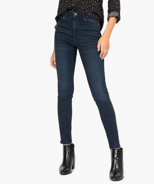 Jean femme skinny taille haute super stretch vue1 - GEMO(FEMME PAP) - GEMO