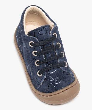 Chaussures premiers pas bébé fille dessus cuir retourné vue5 - Nikesneakers(BEBE DEBT) - Nikesneakers