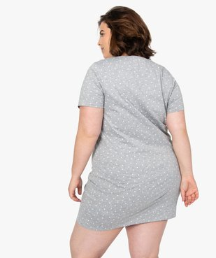 Chemise de nuit femme à manches courtes avec motif vue3 - GEMO(HOMWR FEM) - GEMO