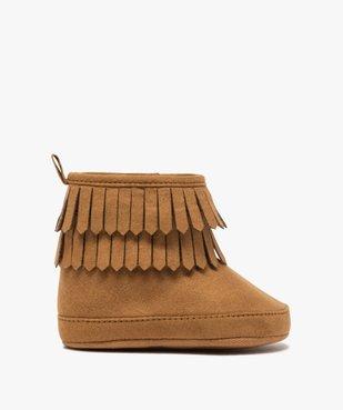 Chaussons bébé fille unis style boots à franges vue1 - GEMO C4G BEBE - GEMO