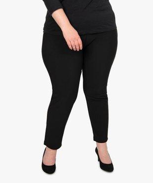 Pantalon femme carotte texturé à taille élastiquée vue1 - GEMO (G TAILLE) - GEMO