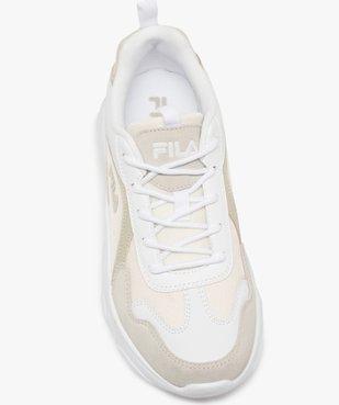 Baskets femme à semelle épaisse look dad shoes - FILA avec détail verni au talon vue5 - FILA - GEMO