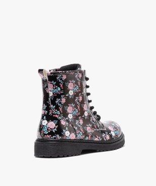 Boots fille à lacets et zip imprimées fleurs vue4 - GEMO (ENFANT) - GEMO