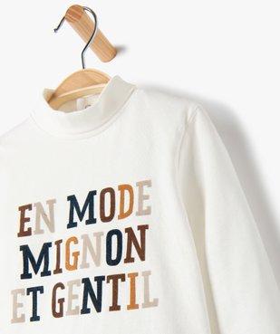 Tee-shirt bébé garçon imprimé à col roulé vue2 - GEMO C4G BEBE - GEMO
