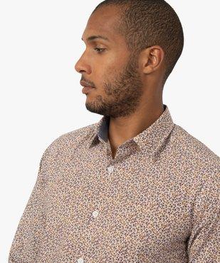 Chemise homme à motifs feuillage coupe slim vue2 - GEMO (HOMME) - GEMO