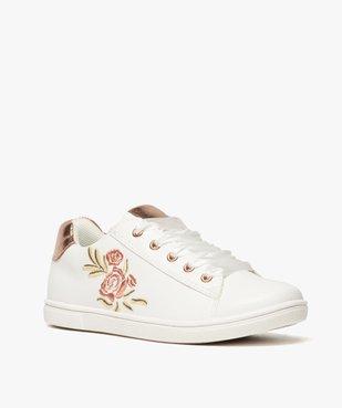 Baskets fille avec motif rose brodé et lacets rubans vue2 - Nikesneakers (ENFANT) - Nikesneakers