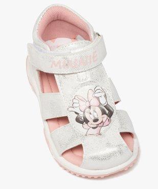 Sandales bébé fille tout terrain à scratch - Minnie vue5 - MINNIE - GEMO