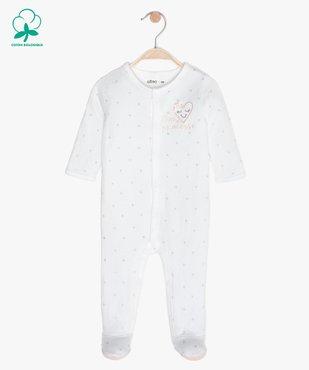 Pyjama bébé en maille piquée motif étoiles vue1 - GEMO C4G BEBE - GEMO