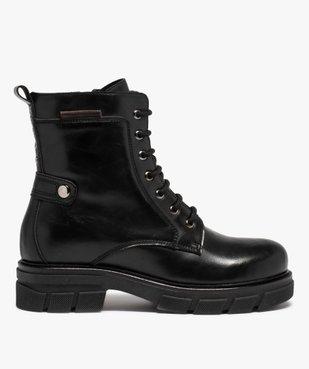 Boots femme unies à talon large et semelle crantée vue1 - Nikesneakers (CASUAL) - Nikesneakers
