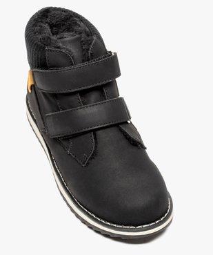 Boots bébé garçon unis à col rembourré fermeture scratch vue5 - GEMO(BEBE DEBT) - GEMO