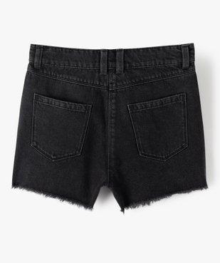 Short fille en jean ultra court taille haute vue5 - GEMO (JUNIOR) - GEMO