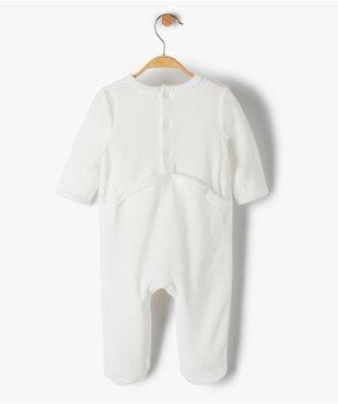Pyjama bébé fille en velours avec inscription sur le buste vue3 - Nikesneakers(BB COUCHE) - Nikesneakers