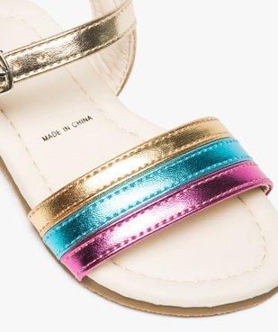 Sandales bébé fille avec bride tricolore et fermeture boucle vue6 - GEMO(BEBE DEBT) - GEMO