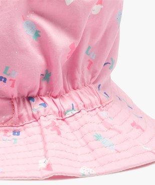 Chapeau bébé fille forme bob réversible - Lulu Castagnette vue3 - LULUCASTAGNETTE - GEMO