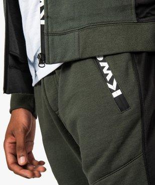 Pantalon de jogging homme avec surpiqûres - Kwell by Soprano vue2 - KWELL - GEMO