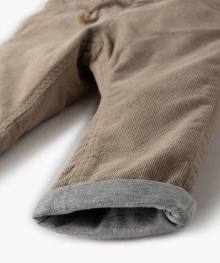 Pantalon bébé garçon en velours doublé jersey vue3 - Nikesneakers(BEBE DEBT) - Nikesneakers