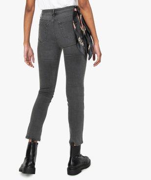Jean femme coupe Slim taille haute vue3 - GEMO C4G FEMME - GEMO